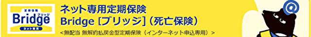 オリックス生命保険(ネット専用定期保険Bridge)